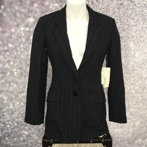 NWT Kenneth Cole New York Pinstripe Blazer 0